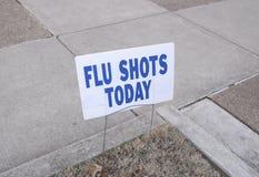 Grippe-Grippe-epidemische Schutzimpfungen heute Stockbild