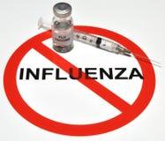 Grippe-Impfstoff Lizenzfreies Stockfoto
