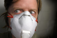 Grippe-Paranoia Lizenzfreie Stockfotos