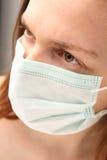 Grippe-Paranoia Stockfoto