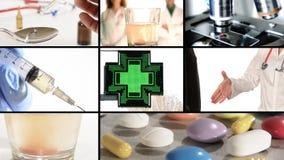 Grippe und Medizin stock video footage
