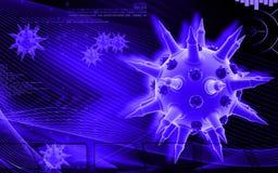 Grippe-Virus Stockfoto