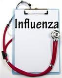 Grippediagnosenzeichen Stockfoto