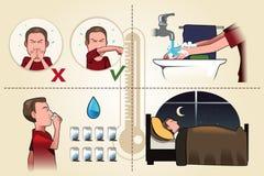 Grippeflugschrift Stockbild