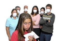 Grippegefahr lizenzfreie stockfotos