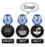 Grippeverhinderung lizenzfreie abbildung