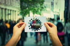 Grippevirus stockfotografie