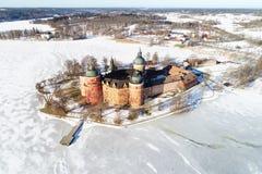 Gripsholm城堡的鸟瞰图 免版税库存照片