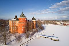 Gripsholm castle exterial view during spring time Royalty Free Stock Images