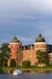 Gripsholm Schloss in See Mälaren Stockfotografie