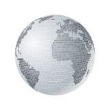 Gris binario del mapa Fotografía de archivo libre de regalías