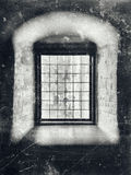 Gris de la ventana de la nobleza Fotos de archivo