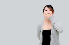 Gris de port modèle de femme asiatique chinoise Images stock