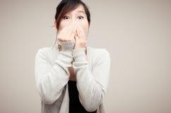 Gris de port modèle de femme asiatique chinoise Photo libre de droits