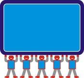 Gris de rouge bleu du modèle A1 d'Aron Robot Family Standing Together Photos stock