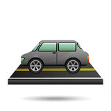 Gris de vehicule de voiture sur la route Photographie stock