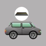 Gris de vehicule de voiture sur la route Photographie stock libre de droits