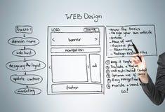 Gris del esquema del diseño web Imagen de archivo