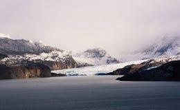 Gris del glaciar en Torres Del Paine, Patagonia, Chile Imagen de archivo