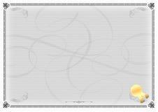 Gris del modelo del certificado Foto de archivo libre de regalías