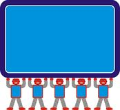 Gris del rojo azul del modelo A1 de Aron Robot Family Standing Together fotos de archivo