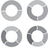 Gris determinado de la carta del círculo Fotos de archivo