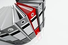 Gris et rouge de dépliant de bureau de groupe Image stock