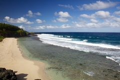 Gris-Gris海滩在毛里求斯 免版税库存图片