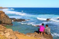 Gris-Gris sea cliffs. Royalty Free Stock Photos