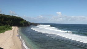 Gris Gris Umhang auf Süden von Mauritius stock footage