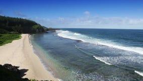 Gris Gris Umhang auf Süden von Mauritius Große Wellen stock video