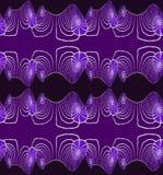 Gris púrpura del modelo espiral inconsútil stock de ilustración