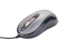 Gris - ratón negro del ordenador del laser Fotografía de archivo