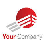 Gris rouge de logo Photographie stock