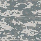 Gris sans couture de camouflage numérique abstrait de modèle illustration stock
