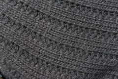 gris tricoté de tissu Photographie stock libre de droits