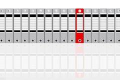 Gris y rojo de la carpeta de la oficina del grupo Imágenes de archivo libres de regalías