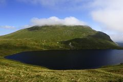 Grisedale Tarn and Helvellyn Stock Images