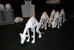 Grisha Bruskin. H-HOUR Rzeźby projekt. Obraz Royalty Free