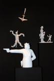 Grisha Bruskin. H-HOUR Rzeźby projekt. Zdjęcia Royalty Free