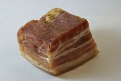 Griskött är ett kulinariskt och industriellt namn för svinkött Den mest konsumerade typen av kött royaltyfri fotografi