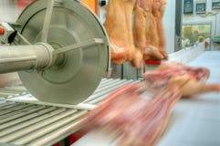 Griskött som bearbetar köttlivsmedelsindustri Arkivfoton