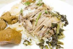Grisköttben med ris Royaltyfria Bilder