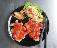 Grisköttbiffen med peppar Royaltyfria Foton