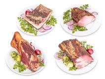 Grisköttköttprodukter Arkivbild
