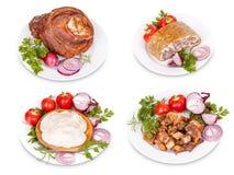 Grisköttköttprodukter Arkivbilder