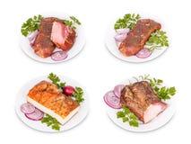 Grisköttköttprodukter Arkivfoto