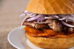 Grisköttsmörgås royaltyfri bild