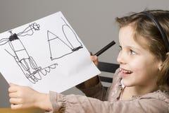 Grisl drawing Royalty Free Stock Photos