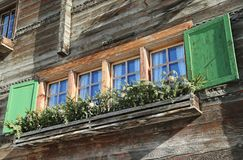 Grisons_framehouse Imagem de Stock Royalty Free